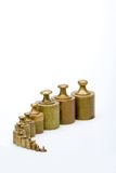 Weights. Old weights royalty free stock image