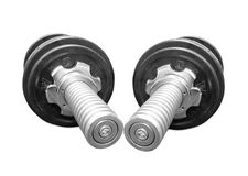 Weights. Isolated on white background Royalty Free Stock Images