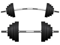 Weights against white Royalty Free Stock Photo