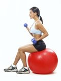 Weights ball fitness Stock Image