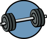Weights barbell  illustration Royalty Free Stock Photos