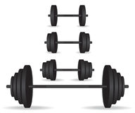 Weights black collection illustration Royalty Free Stock Images