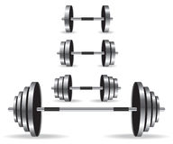 Weights collection illustration Stock Photo