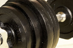 Weights on Dumbbell Stock Photo