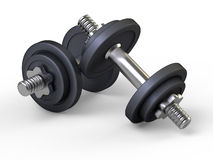 Weights, dumbbells, gym Royalty Free Stock Photography
