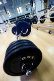 Weights on the floor. Many weights on a gym ready to by left Royalty Free Stock Image