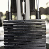 Weights at a gym, close-up Stock Image