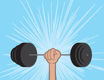 Weights Held By Hand Royalty Free Stock Photography