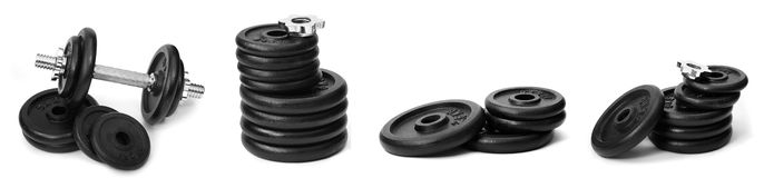 Weights, isolated Royalty Free Stock Images