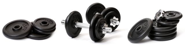 Weights, isolated Royalty Free Stock Photography