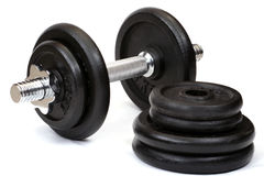 Weights, isolated Stock Photo