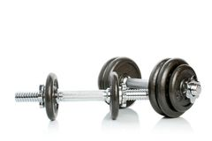 The weights and its reflection Stock Image