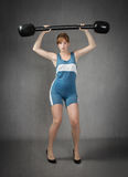 Weights lifting exercises Royalty Free Stock Images