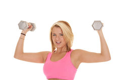 Weights pink Royalty Free Stock Photo
