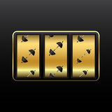 Weights slot machine Royalty Free Stock Images