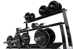 Weights Stand Royalty Free Stock Photos