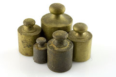 Weights. Steel weights for scales vintage Stock Photography