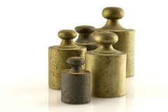 Weights. Steel weights for scales vintage Royalty Free Stock Image