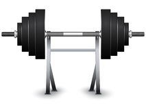 Weights on support stock illustration