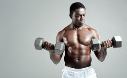Weights training Stock Photo