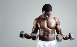 Weights training Stock Images