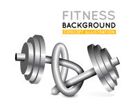 Weights twisted in a knot. Royalty Free Stock Images