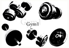 Weights vector Stock Image