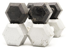 Weights on White Stock Photo