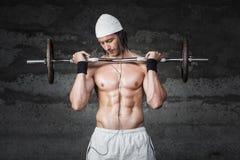 Weigths Bodybuilder Στοκ Εικόνα