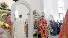 Weihe aller Heilig-Kirche in Straßburg stock footage