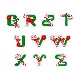 Weihnachten-ABC Stockfoto