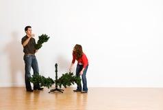 Weihnachten: Addieren von Niederlassungen Stockfotos