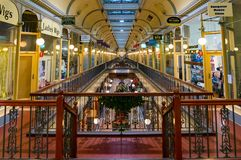 Weihnachten an Adelaide-Säulengang Stockbilder