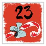 Weihnachten Advent Calendar Hand gezeichnete Elemente und Zahlen Lizenzfreie Stockfotografie