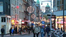 Weihnachten in Amsterdam stock video footage