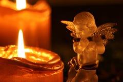 Weihnachten Angel Making Music stockbild