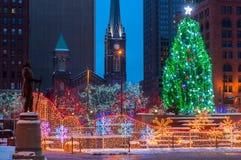 Weihnachten auf dem Quadrat Lizenzfreies Stockfoto