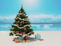 Weihnachten auf dem Strand Lizenzfreie Stockbilder