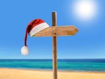 Weihnachten auf dem Strand Stockbild