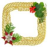 Weihnachten bördelt Girlandedekorationfeld stockbild
