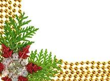 Weihnachten bördelt Girlandedekorationrahmen lizenzfreie stockbilder