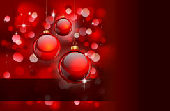 Weihnachten Backgruond mit goldenen Sonderkommandos Lizenzfreies Stockbild