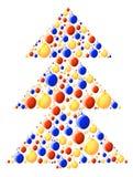 Weihnachten-Baum lizenzfreie abbildung