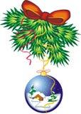 Weihnachten-Baum Dekorationen - Kugel lizenzfreie abbildung