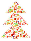 Weihnachten-Baum gebildet von den Geschenken vektor abbildung