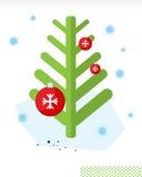 Weihnachten. Baum und Kugeln A vektor abbildung