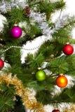 Weihnachten-Baumdekorationsguten rutsch ins neue jahr Stockbilder