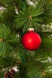Weihnachten-Baumdekorationsguten rutsch ins neue jahr Stockfoto