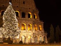 Weihnachten bei Colosseum Stockbild