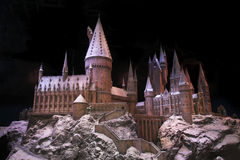 Weihnachten bei Hogwarts lizenzfreies stockfoto